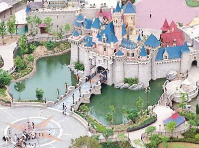 Aerial view of Disney Hong Kong